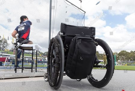 Tim Payne of the USA during the Mens Discus throw at the Invictus Games in Sydney, Australia, 25 October 2018. The Sydney Invictus Games, at which wounded or sick armed services personnel and veterans will compete, runs from 20 to 27 October 2018.