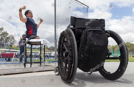 Tim Payne of the USA during the Men's Discus throw at the Invictus Games in Sydney, Australia, 25 October 2018. The Sydney Invictus Games, at which wounded or sick armed services personnel and veterans will compete, runs from 20 to 27 October 2018.
