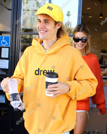Justin Bieber, Hailey Baldwin at Joan's on Third