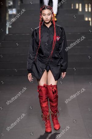 Editorial photo of Moschino x H&M show, Runway, New York, USA - 24 Oct 2018
