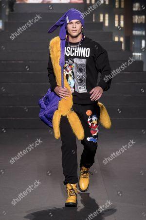 Stock Photo of Mitchell Slaggert on the catwalk