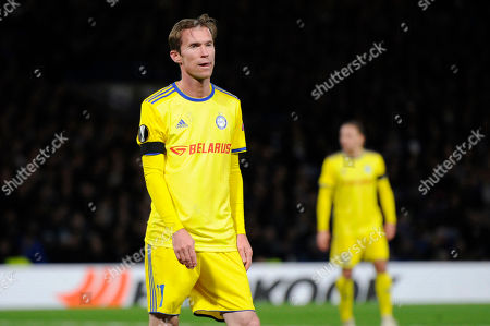 Stock Picture of Alexander Hleb of FC BATE Borisov in action during the UEFA Europa League group stage match between Chelsea and FC BATE Borisov at Stamford Bridge in London, UK - 4th October 2018