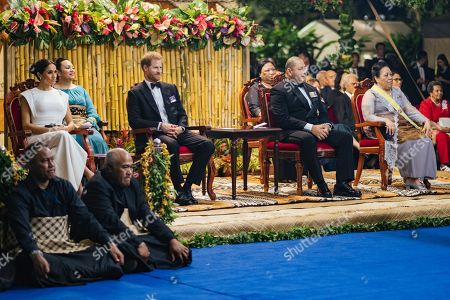 Meghan Duchess of Sussex, Prince Harry, King Tupou VI and Queen Nanasipau'u