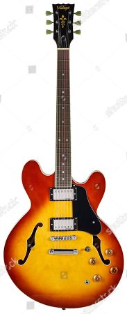 A Vintage Vsa500 Electric Guitar With A Honeyburst Finish