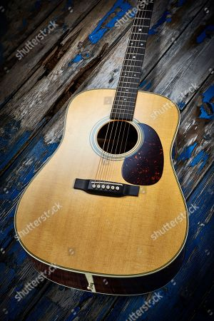 A 2017 Martin D-28 Dreadnought Acoustic Guitar
