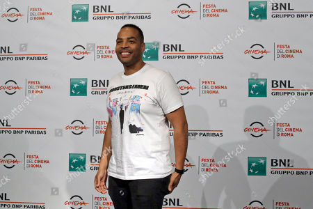 "Stock Image of Director Reinaldo Marcus Green poses during the photo call of the movie ""Monsters and Men"", at the 13th edition of the Rome Film Fest"