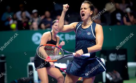 Stock Photo of Andrea Sestini Hlavackova and Barbora Strycova of the Czech Republic