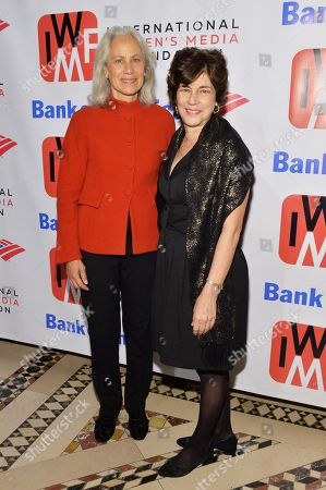 Lynn Povich and President of the International Center for Journalists, Joyce Barnathan