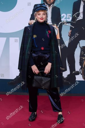 Jella Haase arrives for a German film premiere of '25km/h' at the CineStar in Berlin, Germany, 25 October 2018. The movie opens in German cinemas on 31 October 2018.