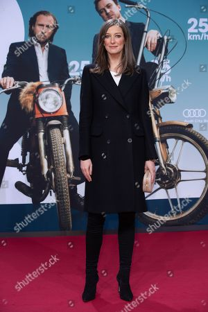 Alexandra Maria Lara arrives for a German film premiere of '25km/h' at the CineStar in Berlin, Germany, 25 October 2018. The movie opens in German cinemas on 31 October 2018.