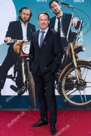 Wotan Wilke Moehring arrives for a German film premiere of '25km/h' at the CineStar in Berlin, Germany, 25 October 2018. The movie opens in German cinemas on 31 October 2018.