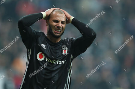 Besiktas's Ricardo Quaresma reacts during the UEFA Europa Legue group I soccer match between Besiktas and Genk in Istanbul, Turkey, 25 October 2018.
