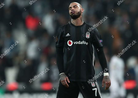 Besiktas's Ricardo Quaresma reacts during the UEFA Europa Legue group I match between Besiktas and Genk in Istanbul, Turkey, 25 October 2018.