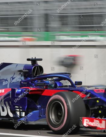 New Zealand pilot Brendon Hartley of Toro Rosso during the first practice session, prior to the Formula One Grand Prix, held at the Hermanos Rodríguez Racetrack, in Mexico City, Mexico, 26 October 2018. The Formula One Grand Prix of Mexico takes place on 28 October 2018.