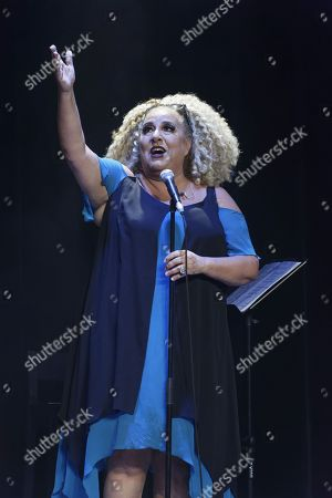 Editorial photo of Mariannne James in concert, Paris, France - 10 Oct 2018