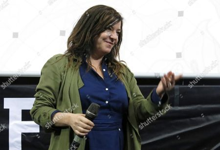 Scottish director Lynne Ramsay presents her film You Were Never Really Here, at Morelia Film Festival in Morelia, Mexico