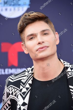 Christian Acosta arrives at the Latin American Music Awards at the Dolby Theatre, in Los Angeles