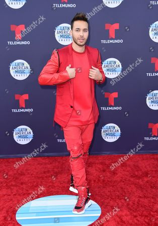 Prince Royce arrives at the Latin American Music Awards at the Dolby Theatre, in Los Angeles