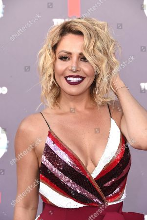 Dayana Garroz arrives at the Latin American Music Awards at the Dolby Theatre, in Los Angeles