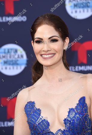 Cynthia Olavarria arrives at the Latin American Music Awards at the Dolby Theatre, in Los Angeles