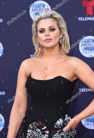 Isabella Castillo arrives at the Latin American Music Awards at the Dolby Theatre, in Los Angeles