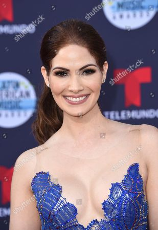Stock Image of Cynthia Olavarria arrives at the Latin American Music Awards at the Dolby Theatre, in Los Angeles