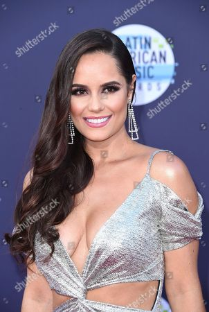 Ana Lucia Dominguez arrives at the Latin American Music Awards at the Dolby Theatre, in Los Angeles