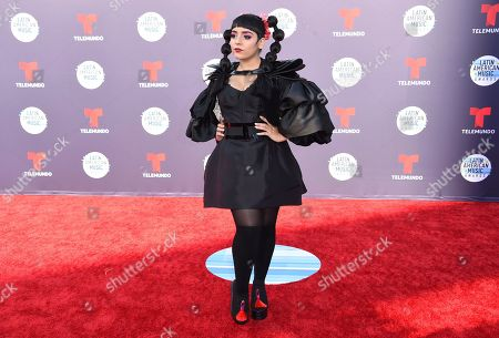 Jarina De Marco arrives at the Latin American Music Awards at the Dolby Theatre, in Los Angeles