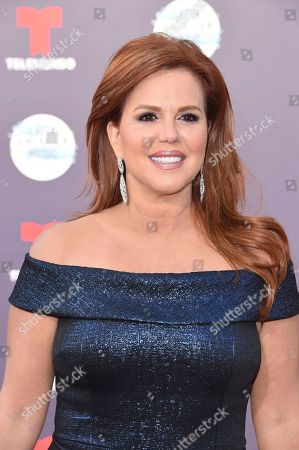 Maria Celeste Arraras arrives at the Latin American Music Awards at the Dolby Theatre, in Los Angeles