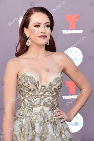 Sofia Lama arrives at the Latin American Music Awards at the Dolby Theatre, in Los Angeles