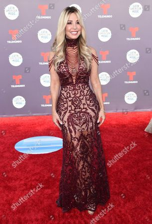Stock Photo of Myrka Dellanos arrives at the Latin American Music Awards at the Dolby Theatre, in Los Angeles