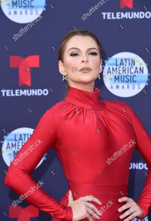 Marjorie de Sousa arrives at the Latin American Music Awards at the Dolby Theatre, in Los Angeles