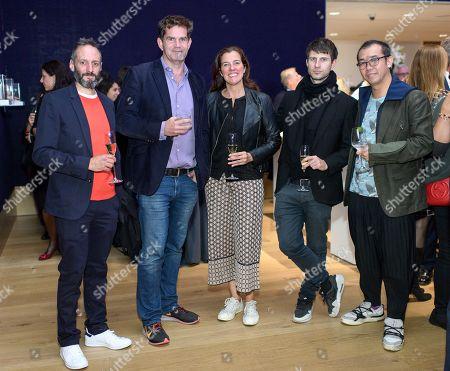 Artists Barnaby Barford, Rob and Nick Carter, Nick Hornby and Gordon Cheung