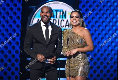 Amaury Nolasco, Samadhi Zendejas. Amaury Nolasco, left, and Samadhi Zendejas present the award for favorite regional Mexican artist at the Latin American Music Awards at the Dolby Theatre, in Los Angeles
