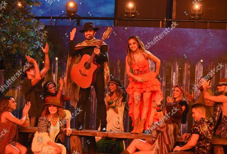 "Becky G, Joss Favela. Becky G, right, and Joss Favela perform ""Pienso en Ti"" at the Latin American Music Awards at the Dolby Theatre, in Los Angeles"
