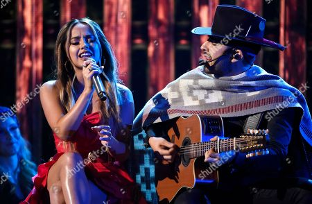 "Becky G, Joss Favela. Becky G, left, and Joss Favela perform ""Pienso en Ti"" at the Latin American Music Awards at the Dolby Theatre, in Los Angeles"