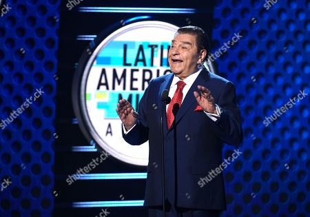 Stock Photo of Don Francisco speaks on stage at the Latin American Music Awards at the Dolby Theatre, in Los Angeles