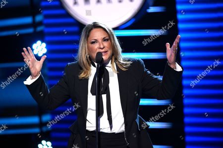 Ana Maria Polo speaks at the Latin American Music Awards at the Dolby Theatre, in Los Angeles