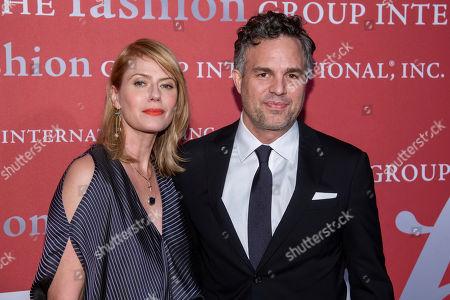 "Sunrise Coigney, Mark Ruffalo. Sunrise Coigney and Mark Ruffalo attend the Fashion Group International's annual ""Night of Stars"" gala at Cipriani Wall Street, in New York"