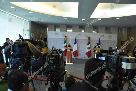 Editorial photo of Jean-Yves Le Drian working visit to Mexico, Mexico City, Mexico - 25 Oct 2018