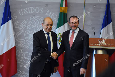 Editorial image of Jean-Yves Le Drian working visit to Mexico, Mexico City, Mexico - 25 Oct 2018