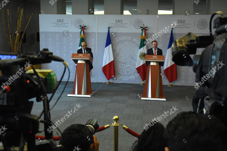 Editorial picture of Jean-Yves Le Drian working visit to Mexico, Mexico City, Mexico - 25 Oct 2018