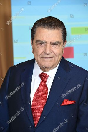 Don Francisco poses backstage at the Latin American Music Awards at the Dolby Theatre, in Los Angeles