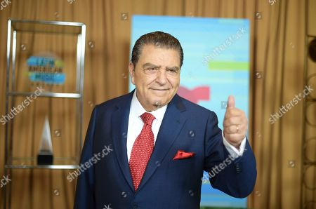 Stock Picture of Don Francisco poses backstage at the Latin American Music Awards at the Dolby Theatre, in Los Angeles