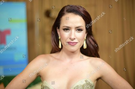 Sofia Lama poses backstage at the Latin American Music Awards at the Dolby Theatre, in Los Angeles