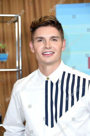 Christian Acosta poses backstage at the Latin American Music Awards at the Dolby Theatre, in Los Angeles