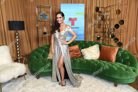Ana Lucia Dominguez poses backstage at the Latin American Music Awards at the Dolby Theatre, in Los Angeles