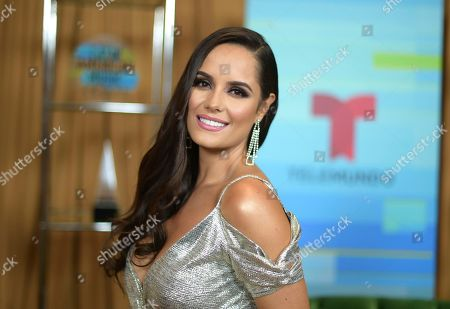 Stock Photo of Ana Lucia Dominguez poses backstage at the Latin American Music Awards at the Dolby Theatre, in Los Angeles