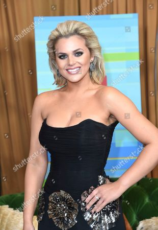 Isabella Castillo poses backstage at the Latin American Music Awards at the Dolby Theatre, in Los Angeles