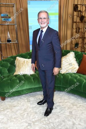 Tony Plana poses backstage at the Latin American Music Awards at the Dolby Theatre, in Los Angeles